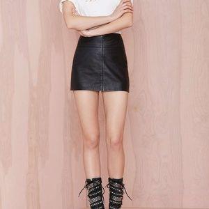 Nasty Gal Black Leather Mini Skirt